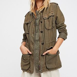Free People Not Your Brother's Surplus Jacket NWT